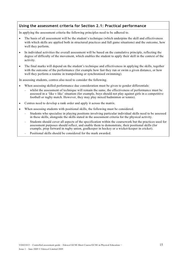 Pe gcse coursework help