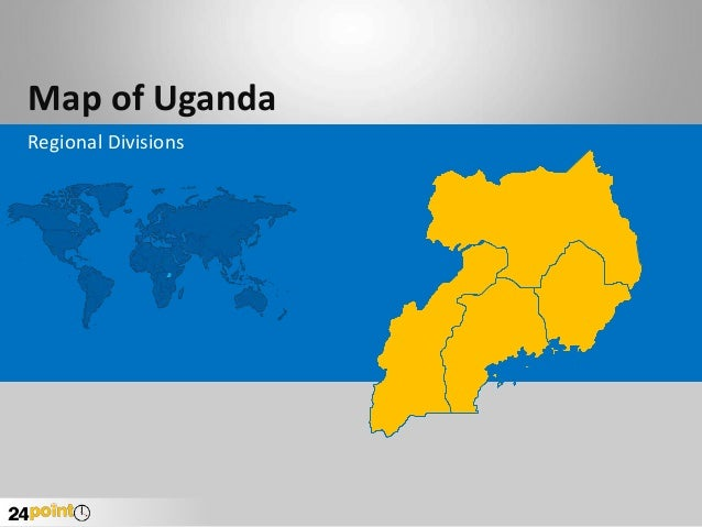 Map of Uganda Regional Divisions