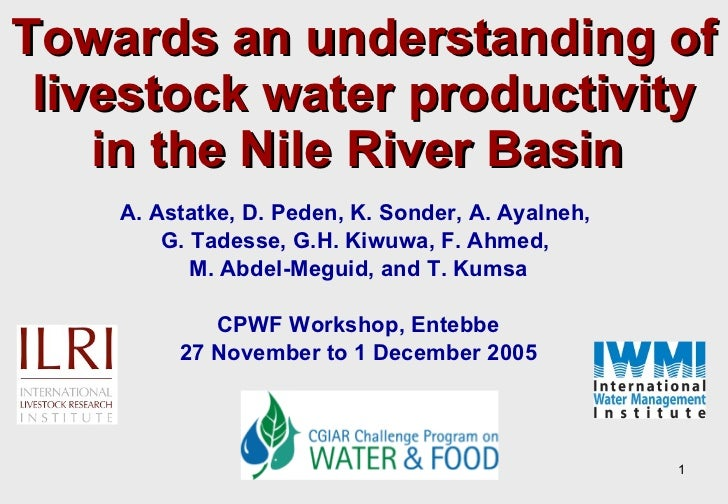 Towards an understanding of livestock water productivity in the Nile River Basin   A. Astatke, D. Peden, K. Sonder, A. Aya...