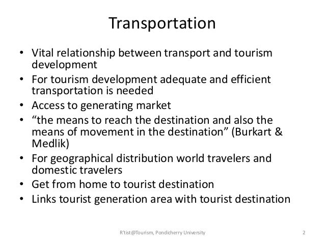 what is the relationship between transport and tourism