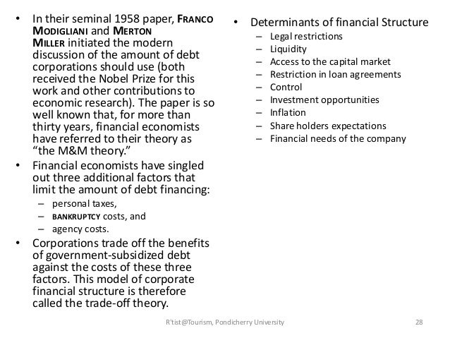 research paper determinants capital structure