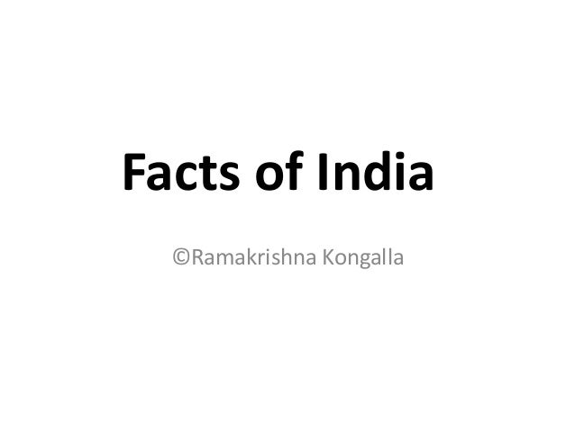 Facts of India
