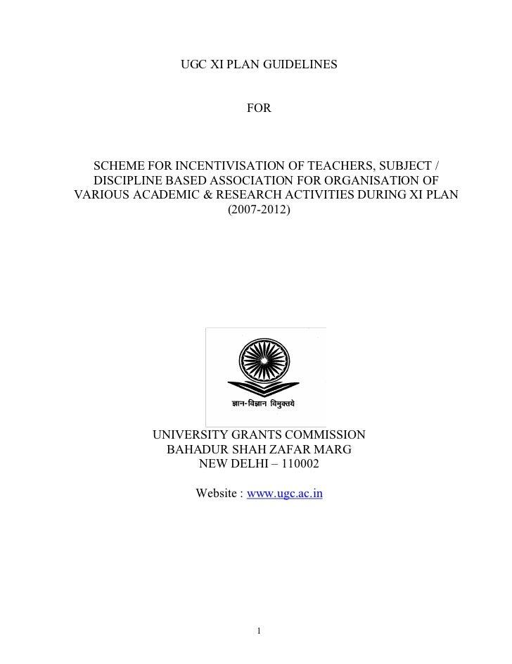 Ugc discipline based guidelines