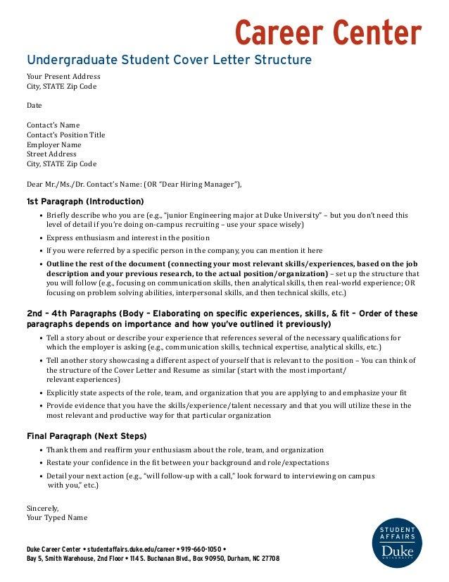 Undergraduate Cover Letter Structure  Wells Fargo NJJyw40P