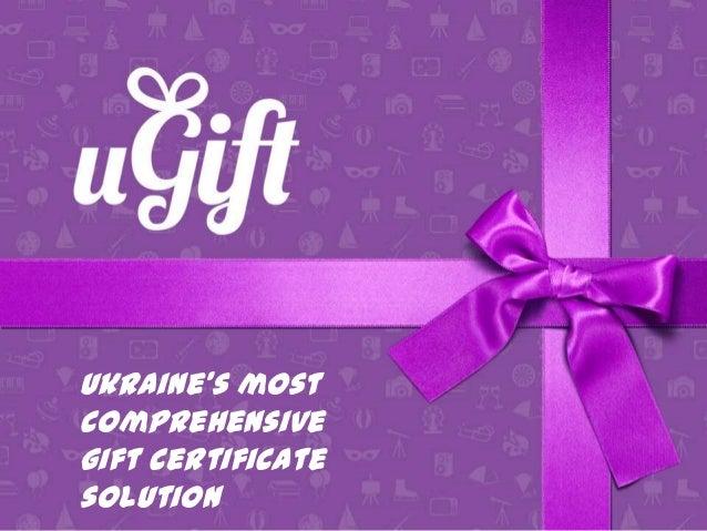 Ukraine's most comprehensive gift certificate solution