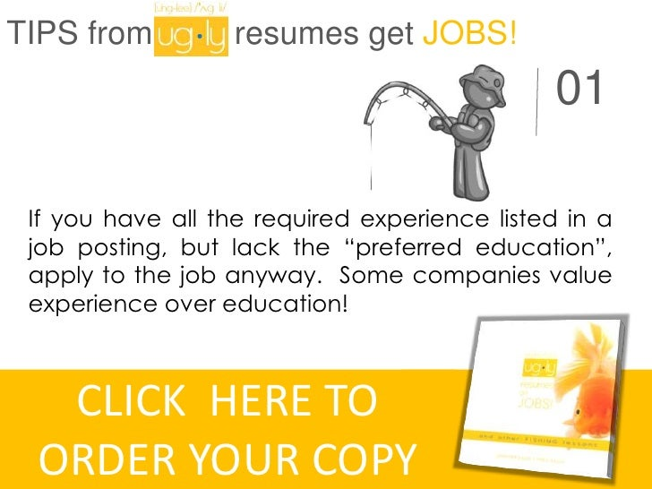 """TIPS from """"Ugly resumes get JOBS!"""""""