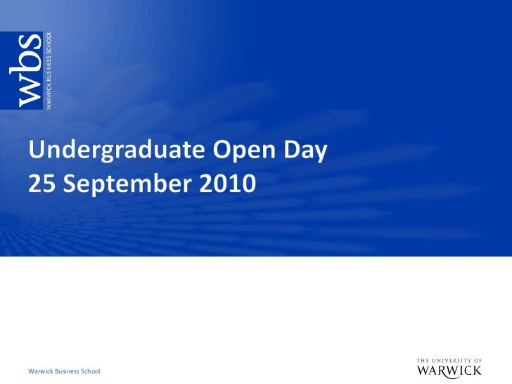 Undergraduate Open Day, September 2010
