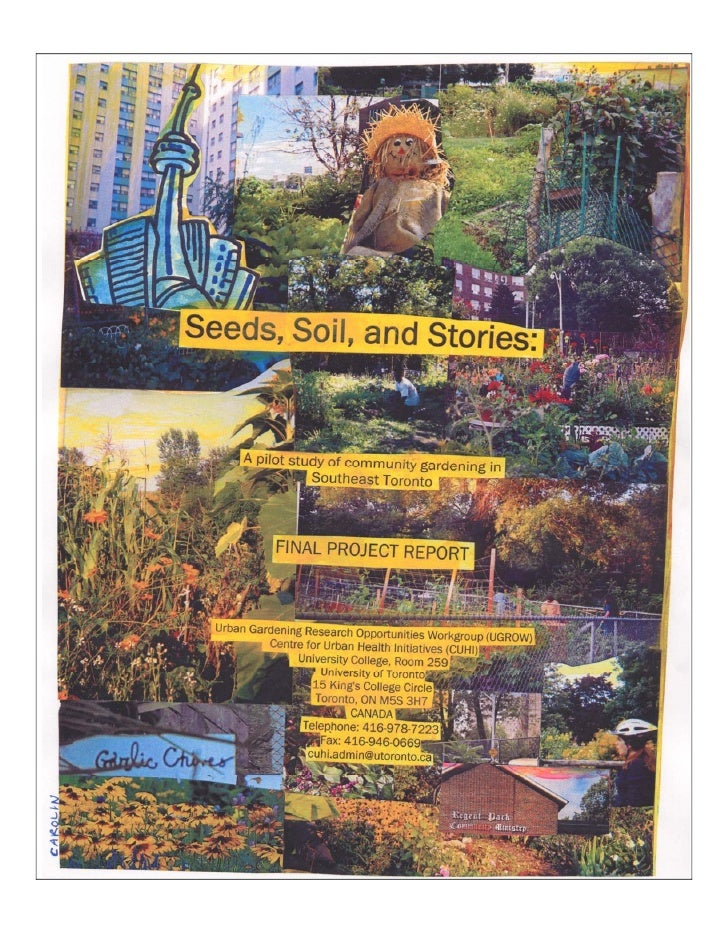 Seeds, Soils and Stories: Benefits of Community Gardens