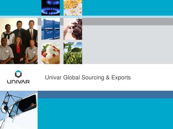 Univar Global Sourcing & Exports