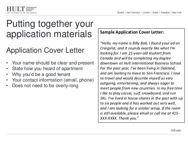 together your application materials application cover letter your name