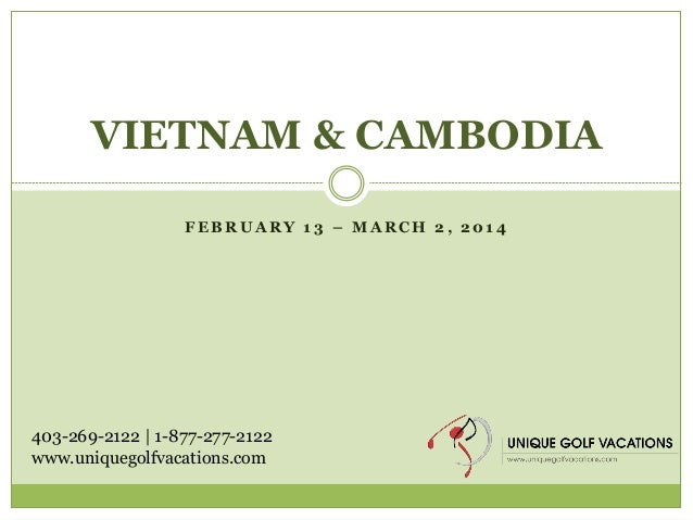Unique Golf Vacations Vietnam and Cambodia Golf and Sightseeing Tour