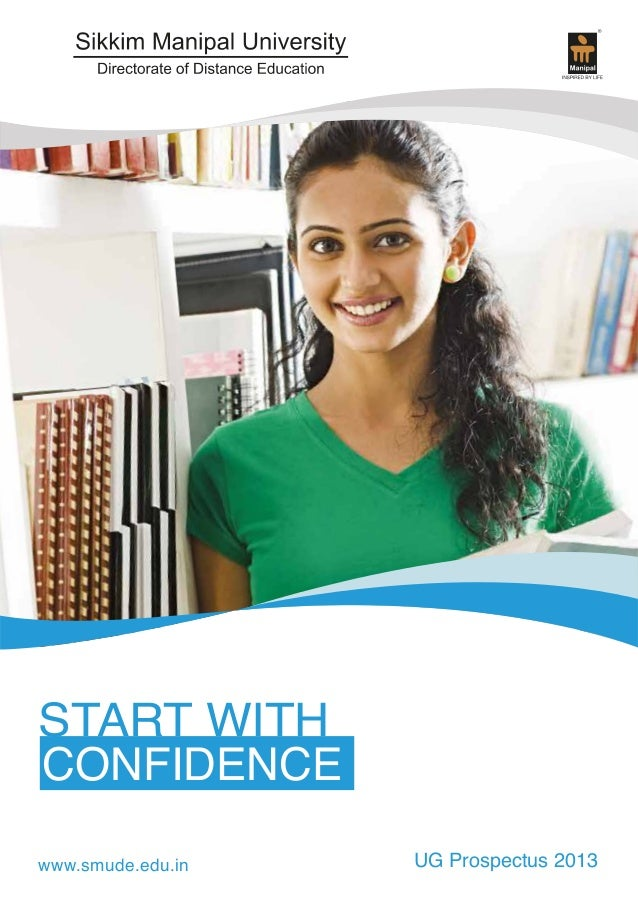 START WITH CONFIDENCE www.smude.edu.in  UG Prospectus 2013