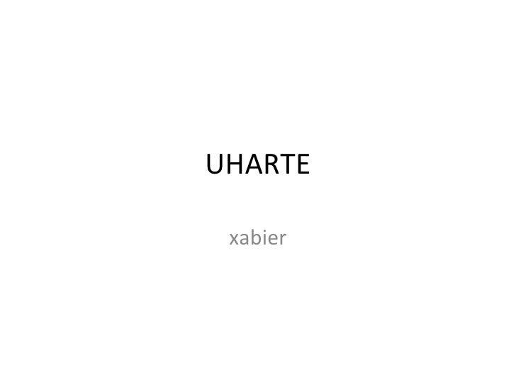 UHARTE xabier