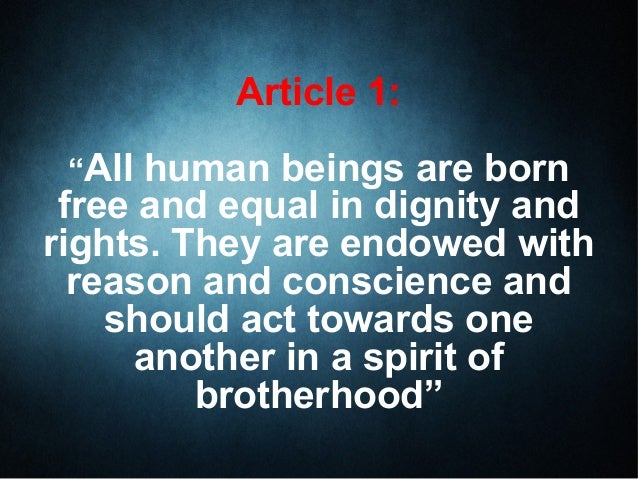 article 1 universal declaration of human rights