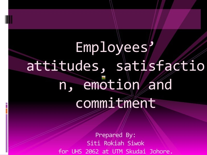 Uhs 2062 Employees Attitudes, Satisfaction And Commitment (2010)