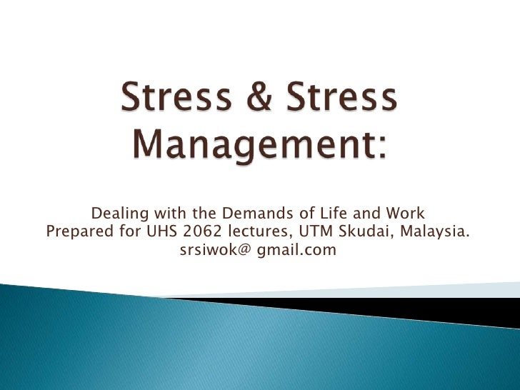 stress management and work performance thesis
