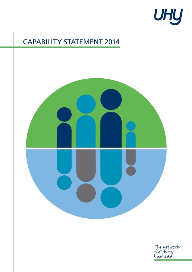 Capability statement 2014  The network for doing business