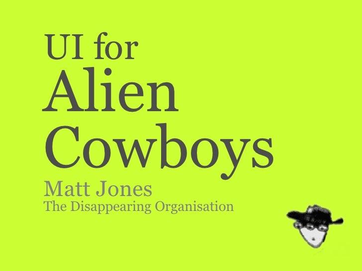 UI For Alien Cowboys
