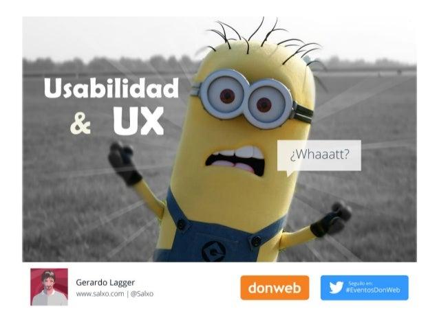 UI UX Usabilidad, Whaaat ?