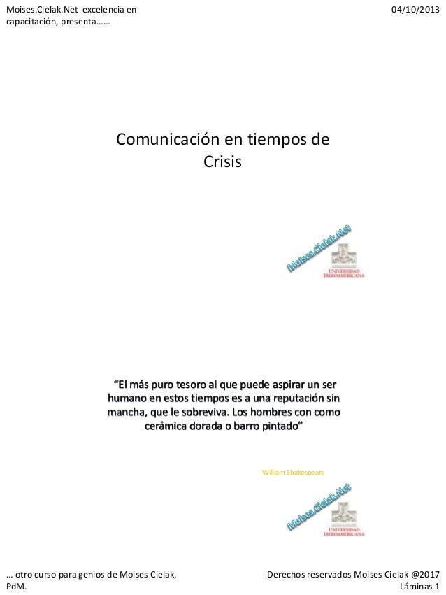 Clase de Crisis en la UIA por Moises.cielak.net