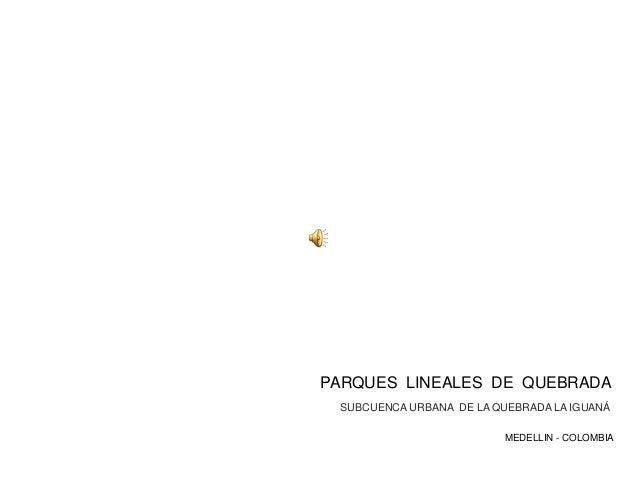 PARQUES LINEALES DE QUEBRADA MEDELLIN - COLOMBIA SUBCUENCA URBANA DE LA QUEBRADA LA IGUANÁ
