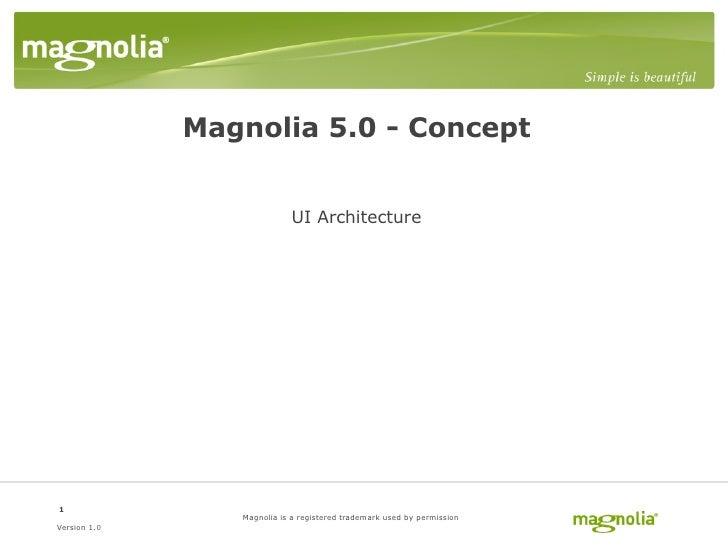 Magnolia CMS 5.0 - UI Architecture