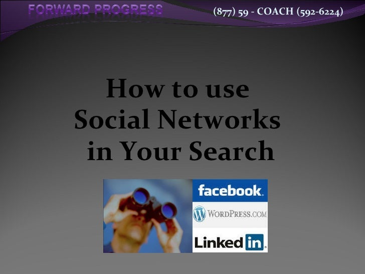 How to use  Social Networks  in Your Search