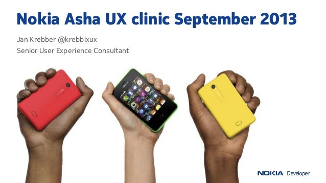 Nokia Asha UI Clinic September 2013