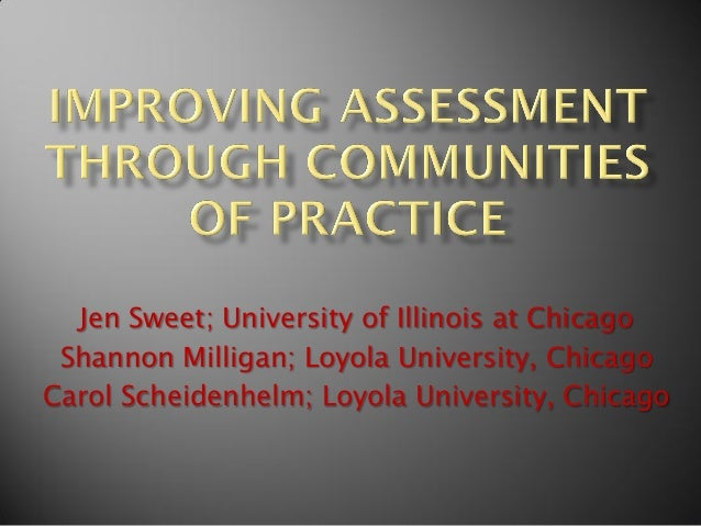 Improving Assessment Through Communities of Practice