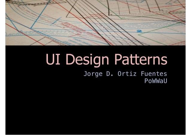 Ui design patterns