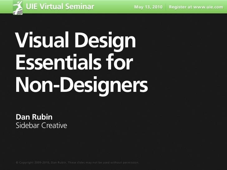 UIE Virtual Seminar                                                     May 13, 2010   Register at www.uie.com     Visual ...