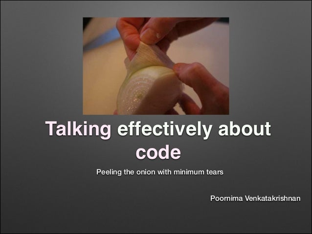 Talking effectively about code