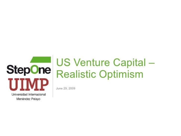 US Venture Capital - Realistic Optimism