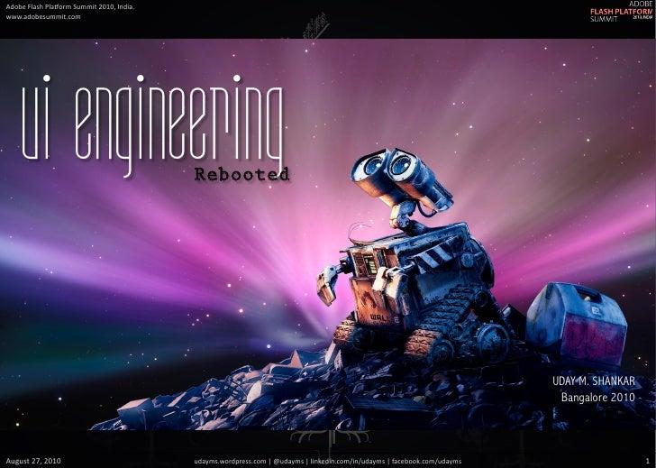 UI Engineering - Rebooted