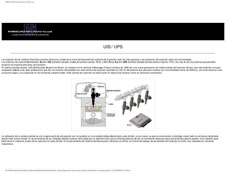 UIS/UPS unidad bomba-inyector, introduccion                                                                               ...