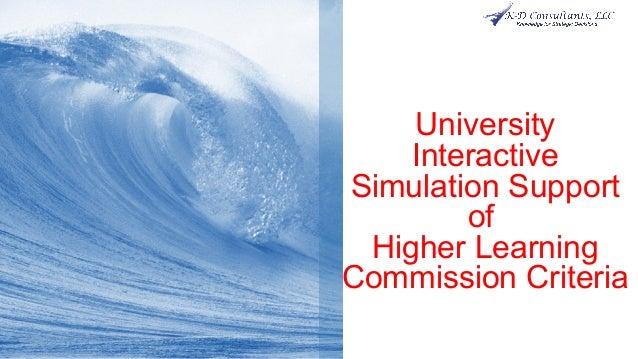 UniversityInteractiveSimulation SupportofHigher LearningCommission Criteria