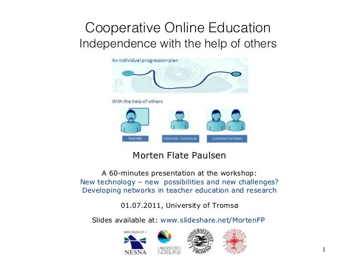 Cooperative Online Education: Independence with the help of others