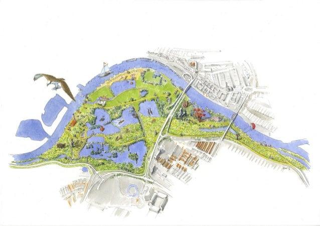 Uiterwaarden Park Arnhem - artist impression 2014