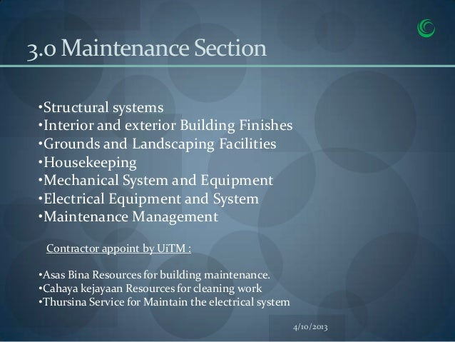 3.0 Maintenance Section