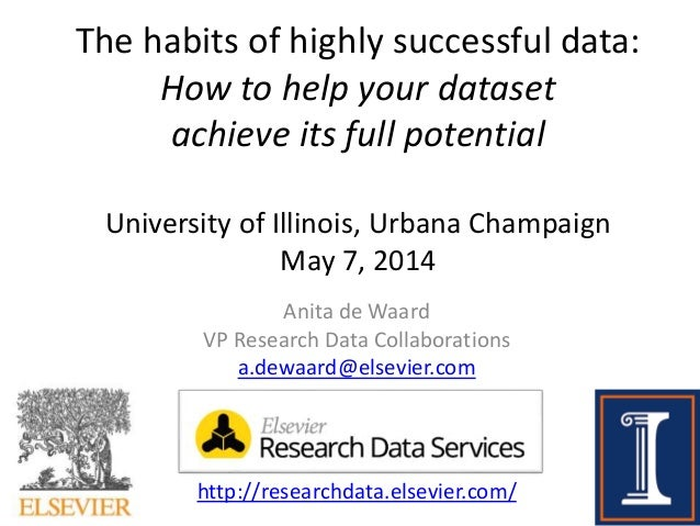 The habits of highly successful data: