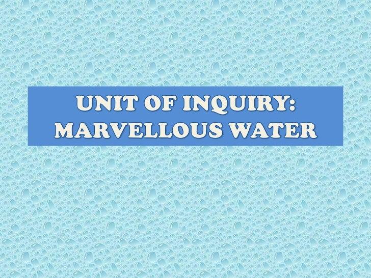 UI Marvellous Water