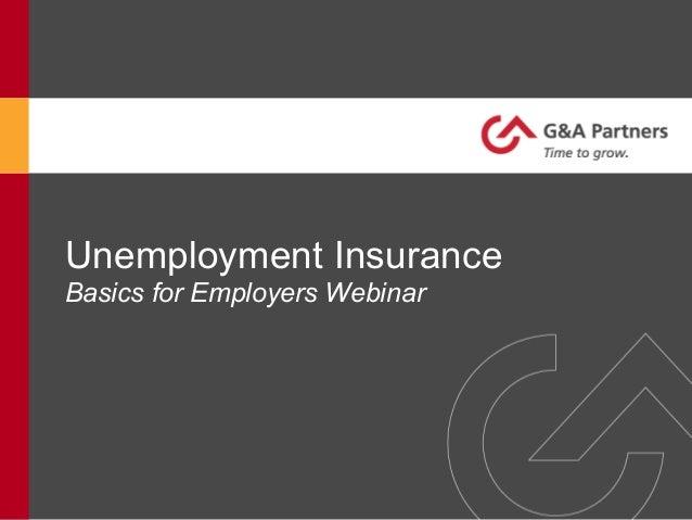 Unemployment Insurance Webinar