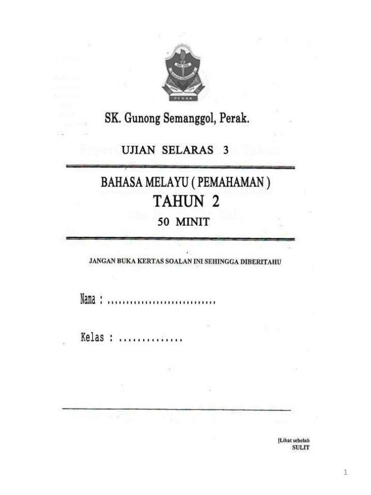 Ujianselaras3- Bahasa Melayu Tahun 2