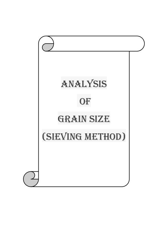 Analysis Of Grain size (Sieving method)
