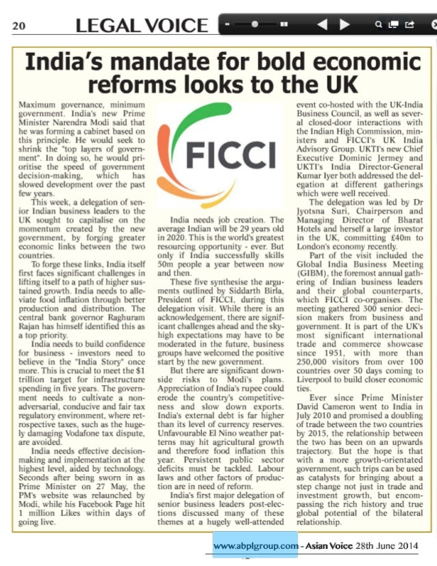 India's mandate for bold economic reforms looks to UK