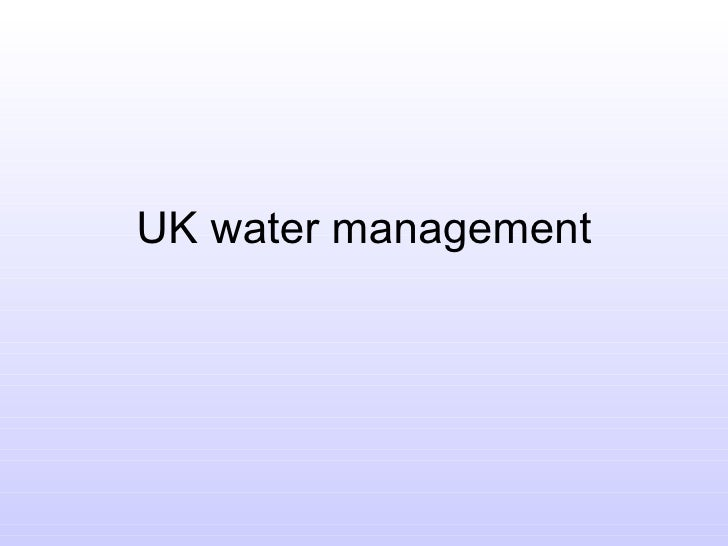 Uk Water Supply And Demand