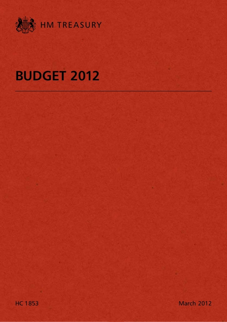 Budget 2012 (HM Treasury)