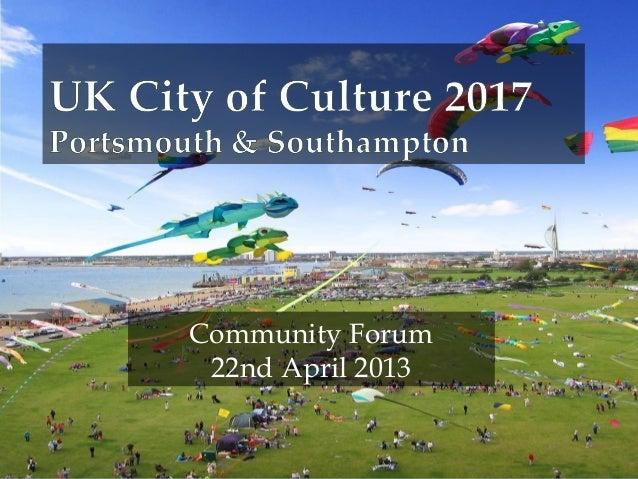 Community Forum22nd April 2013