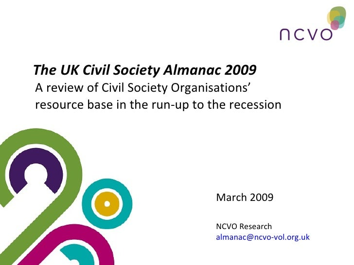 Uk Civil Society And The Recession Cc