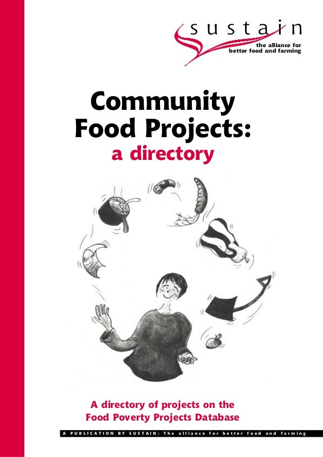 Community Poverty  Food Projects Directory - England